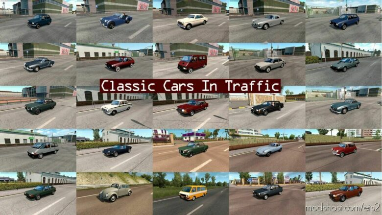 Classic Cars Traffic Pack By Trafficmaniac V7.6.1 for Euro Truck Simulator 2