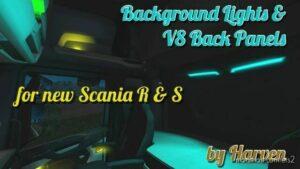 Scania R & S Background Lights & V8 Back Panels [1.42] for Euro Truck Simulator 2