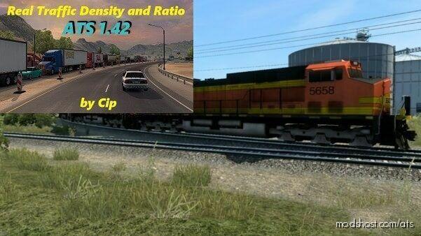 Improved Trains V3.8 Real Traffic Density for American Truck Simulator